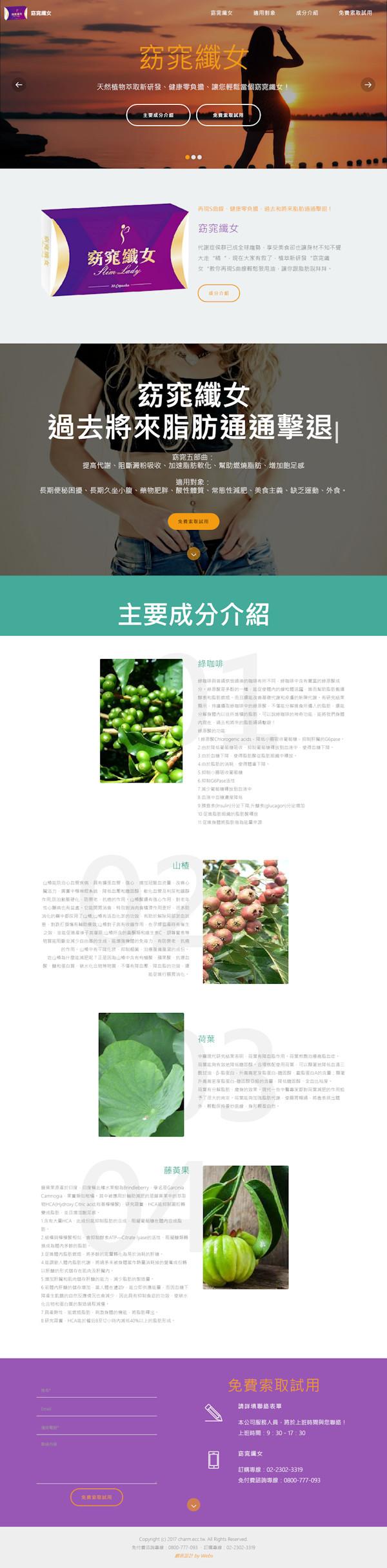 網頁設計-窈窕纖女2
