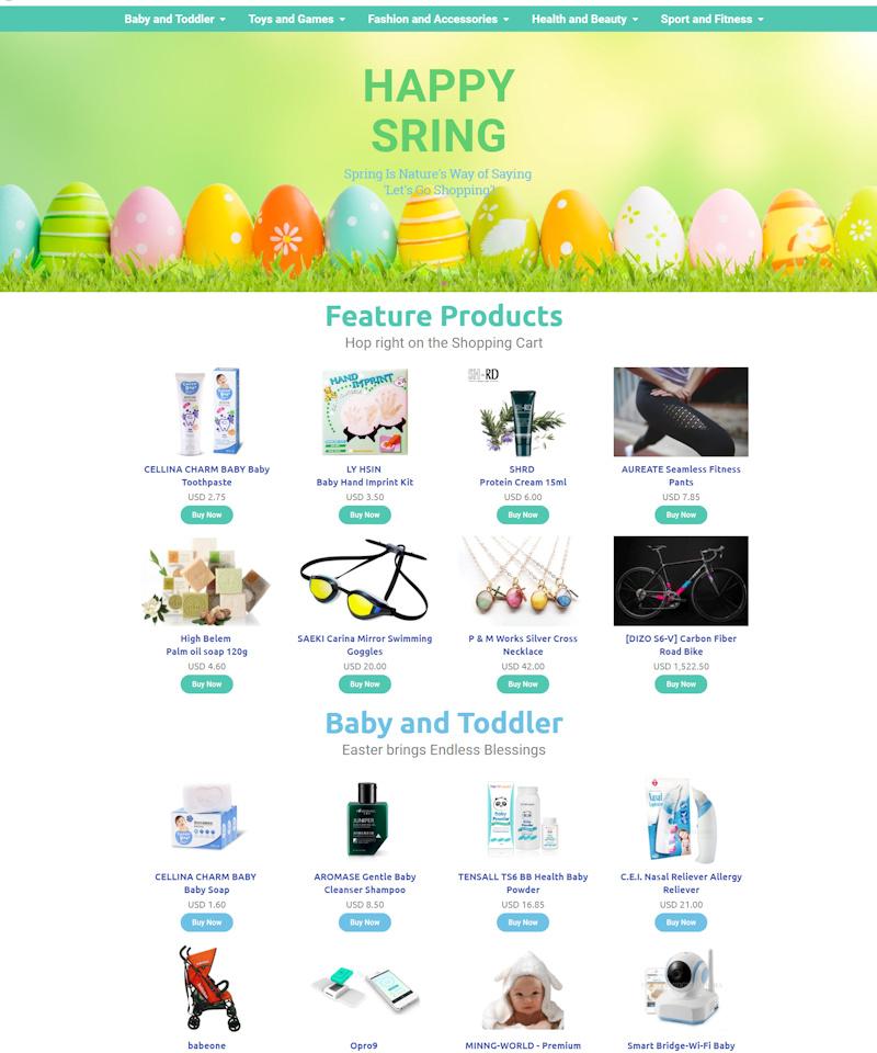 網頁設計-Happy Spring
