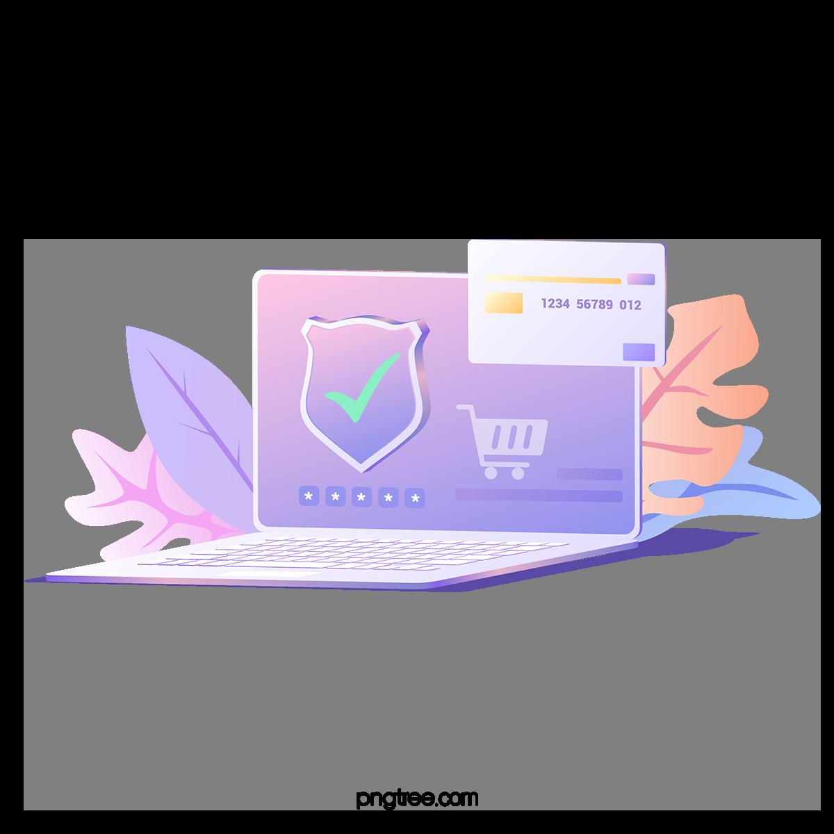gradient purple network security online_5045246