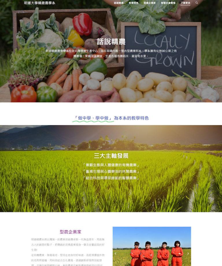 網頁設計-大學精農系