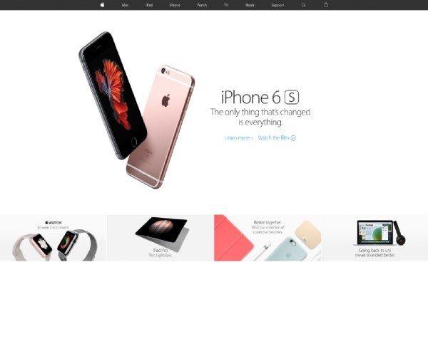 2017年Apple網頁設計